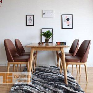 Bàn ghế gỗ phòng ăn Grace
