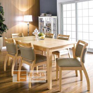 Bàn ghế gỗ phòng ăn CHEMY