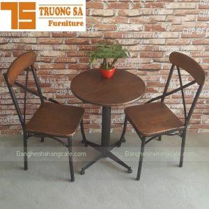 Bàn ghế khung sắt phong cách Vintage TS140