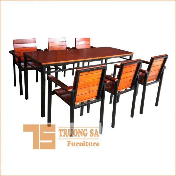 Ghế nhà hàng khung sắt có tay TS410