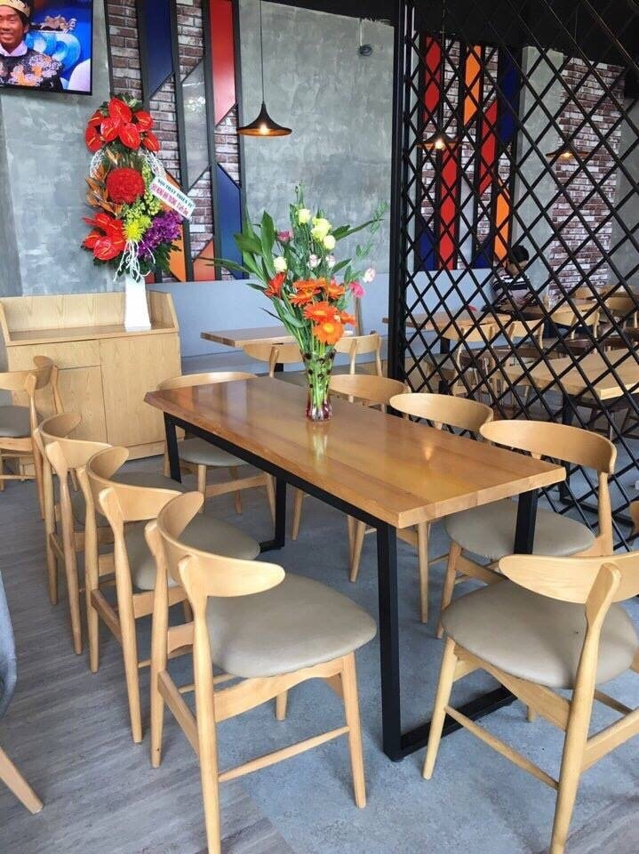 ghế gỗ cafe TS167
