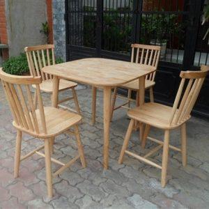 Bàn ghế quán cafe bằng gỗ TS238