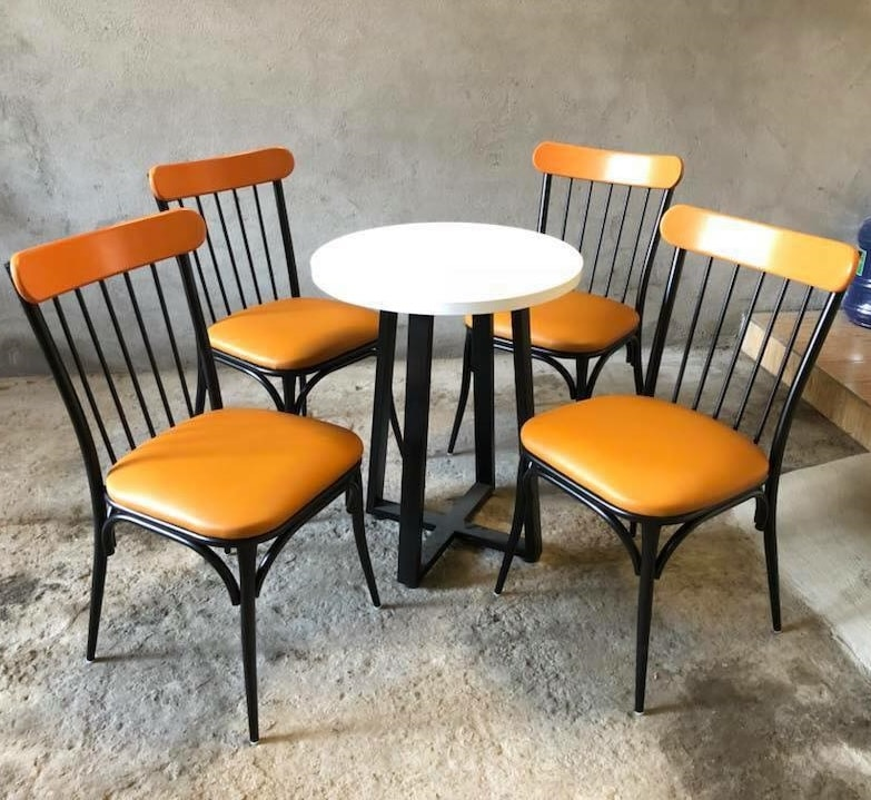 Bàn ghế cafe khung sắt đẹp giá rẻ