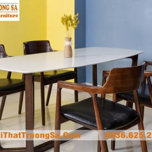 Bàn ghế phòng ăn bằng gỗ đẹp hiện đại