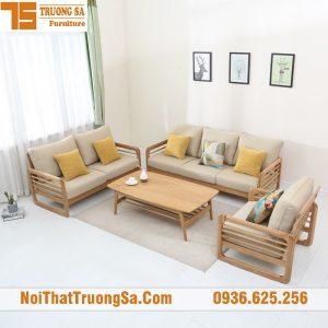 Sofa phòng khách bằng gỗ đẹp