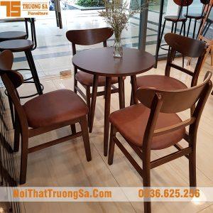 Bàn ghế cafe gỗ TS311