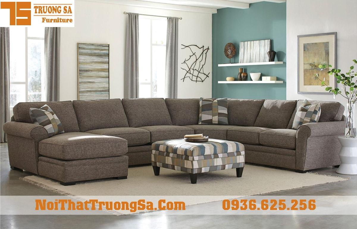 Sofa góc bọc nỉ nhập khẩu TS313