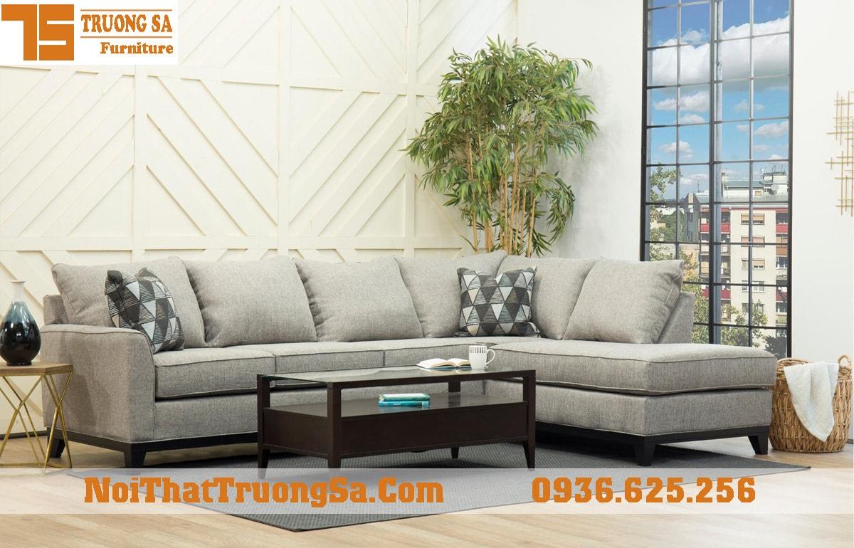 Sofa góc bọc nỉ nhập khẩu TS314