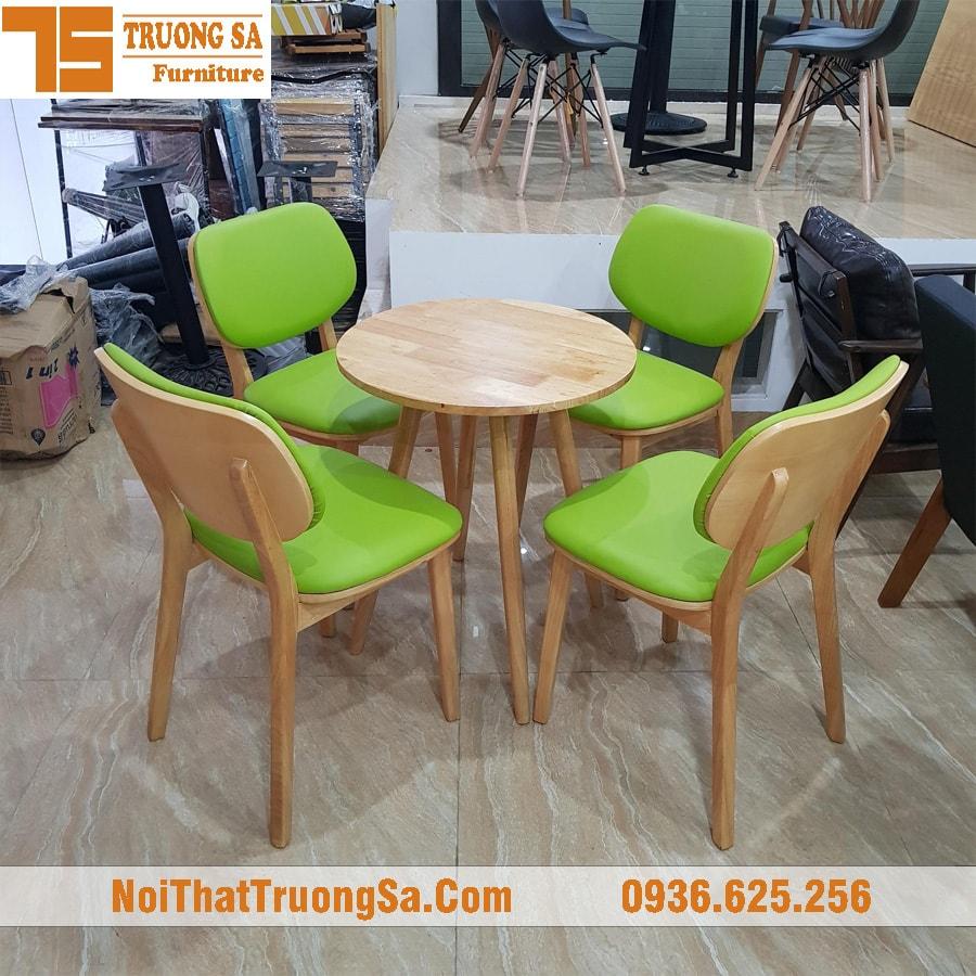 Bàn ghế gỗ cafe TS168B