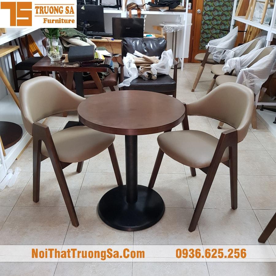 Bàn ghế quán cà phê gỗ TS250b