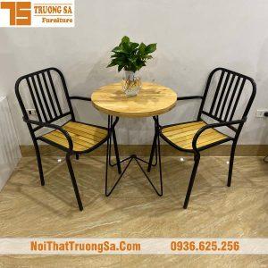 Bàn ghế cà phê sắt