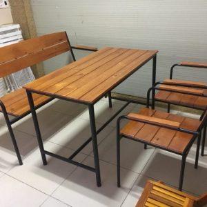 Bàn ghế cafe khung sắt TS258