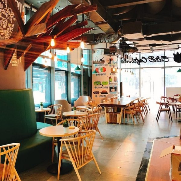 Bàn ghế cafe gỗ TS326