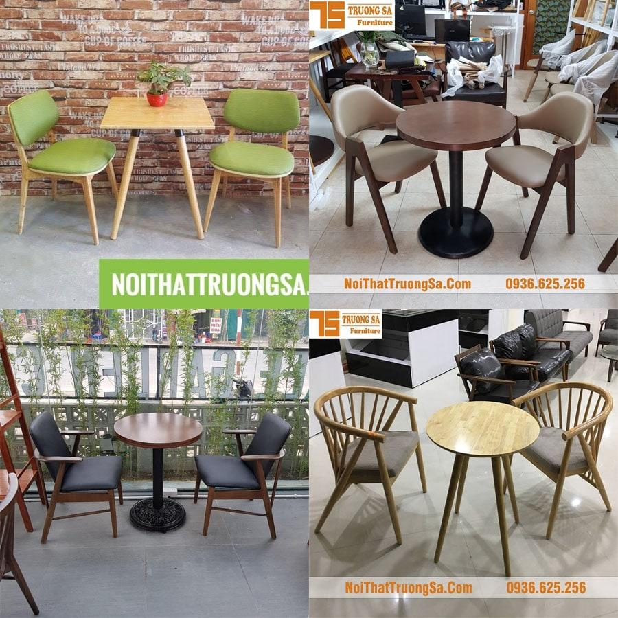 Giá bộ bàn ghế gỗ quán cafe