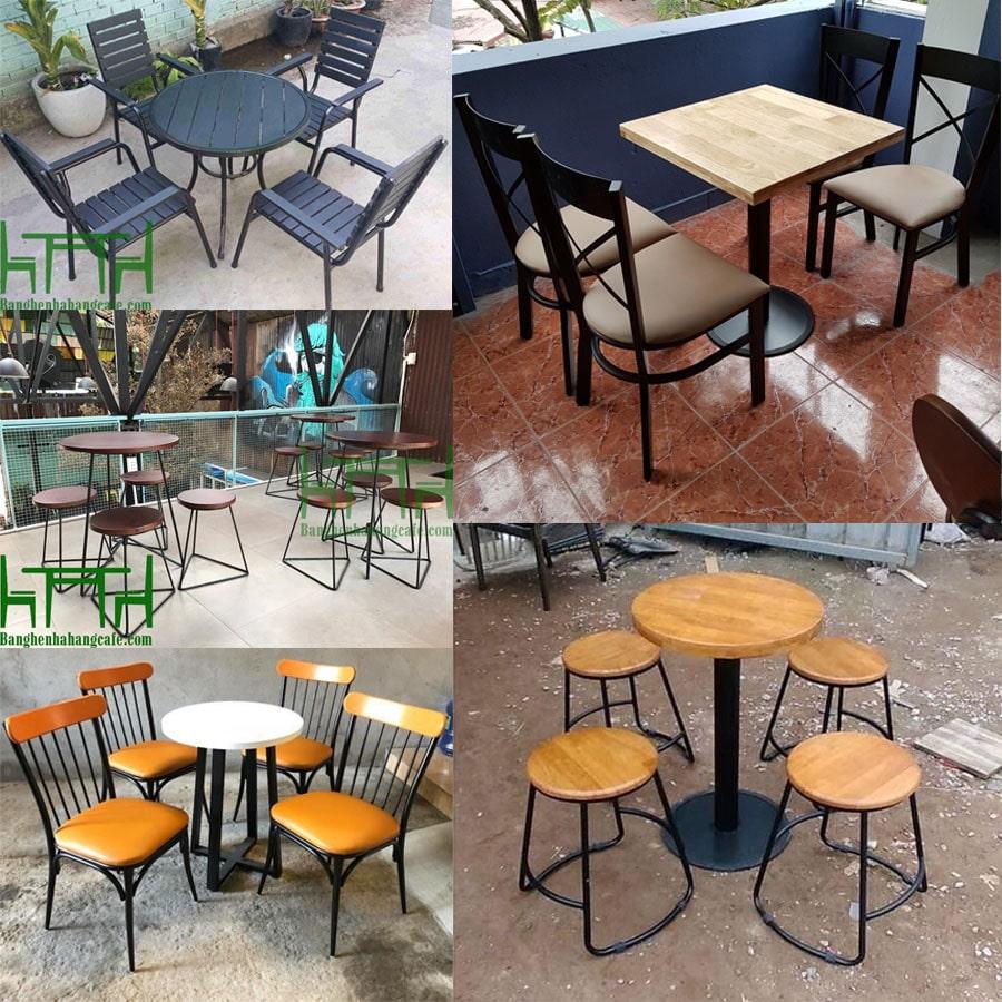 Giá bộ bàn ghế cafe bằng sắt