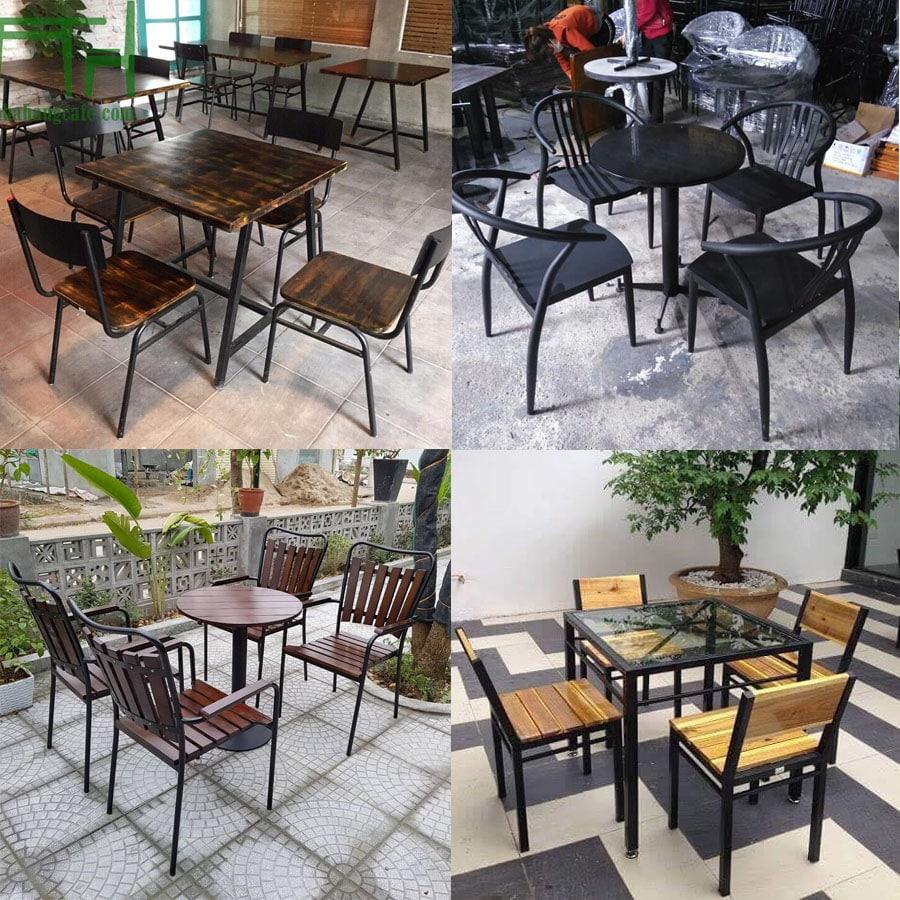 Giá bộ bàn ghế cafe khung sắt