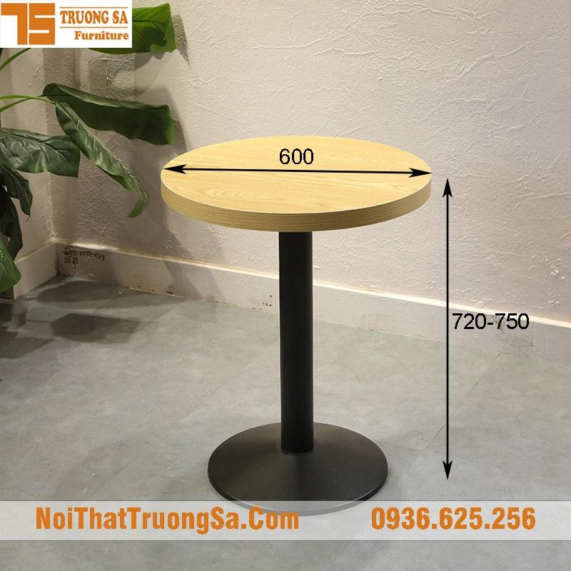 Kích thước tiêu chuẩn bàn cafe tròn đơn
