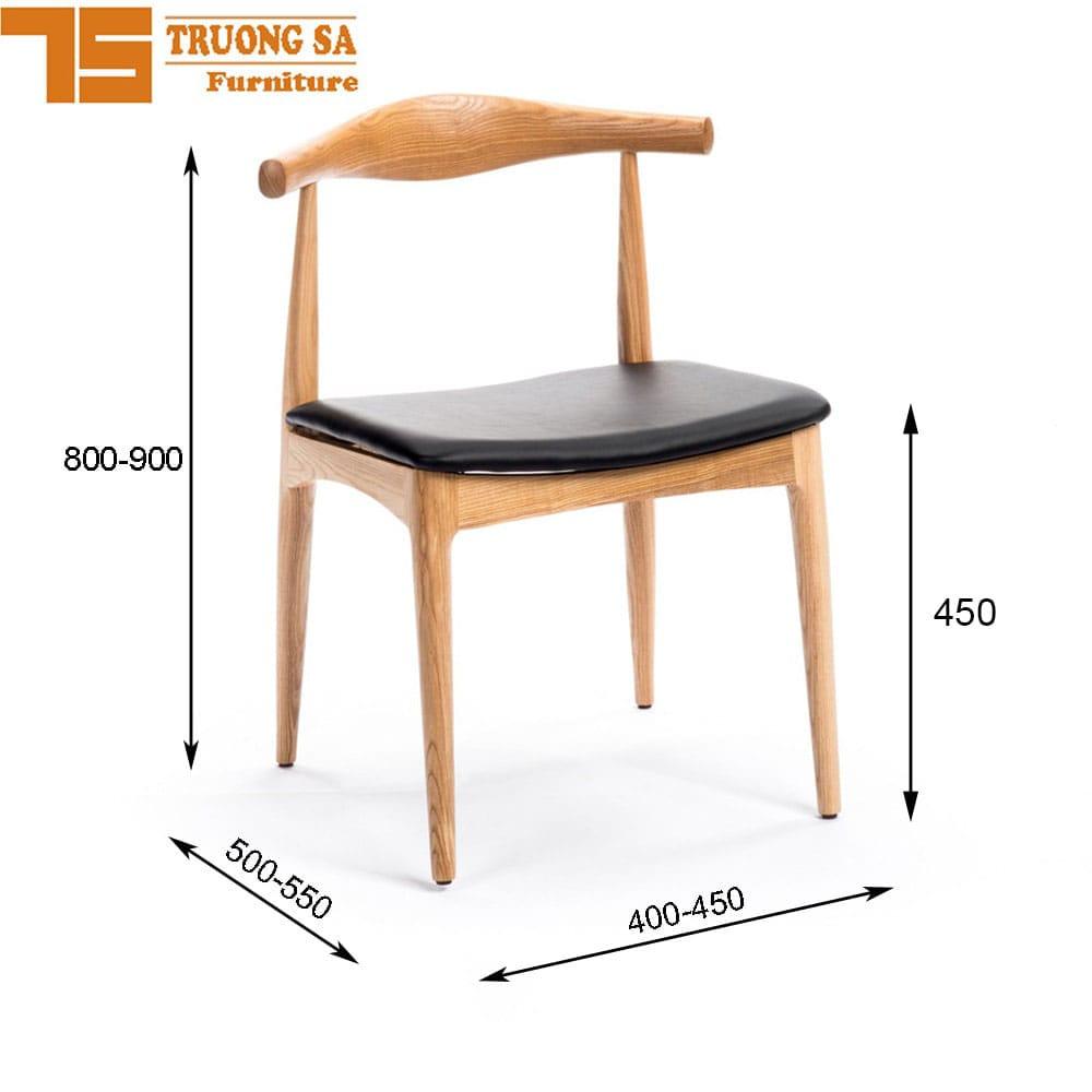 Kích thước ghế cafe đơn tiêu chuẩn