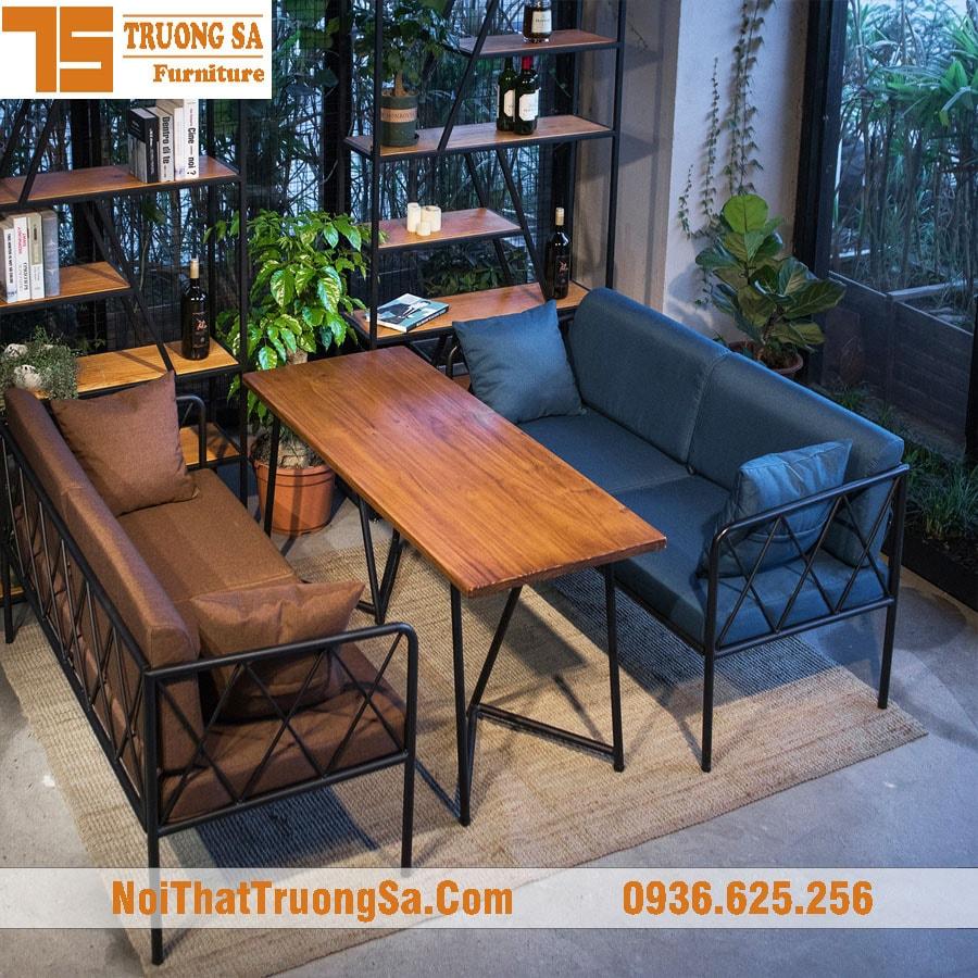 Sofa cafe khung sắt tS237