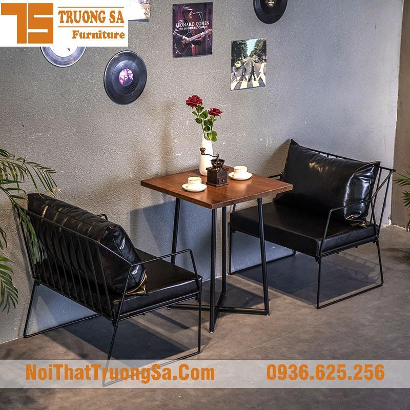 Sofa cafe khung sắt TS329