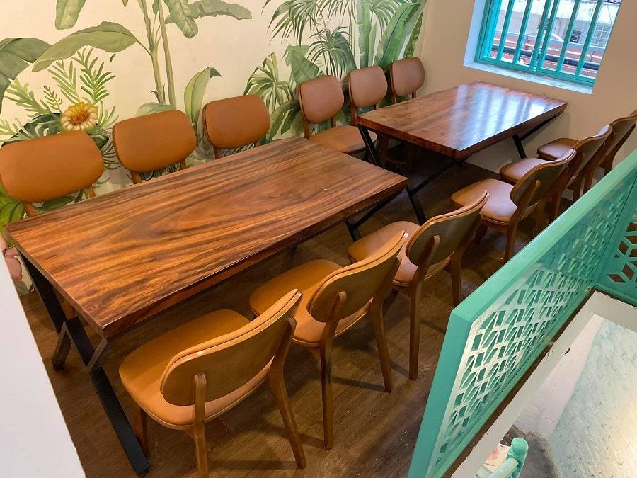 Bàn ghế nhà hàng đẹp bằng gỗ