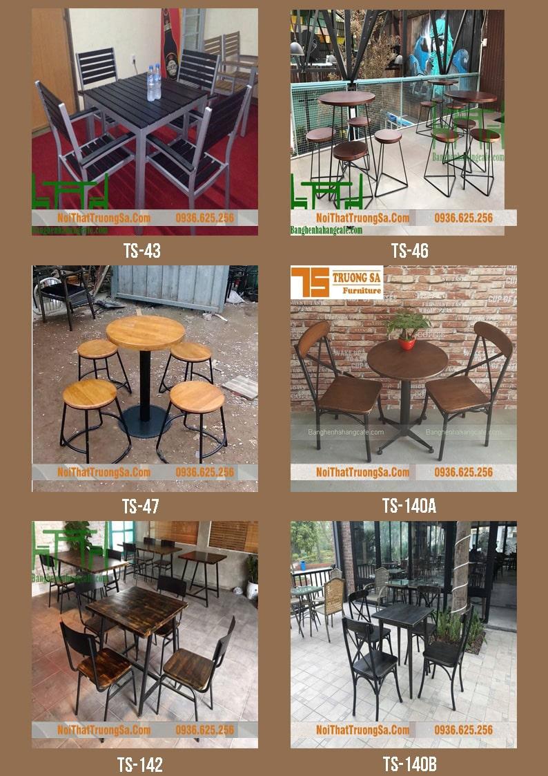 bàn ghế cafe sắt đẹp