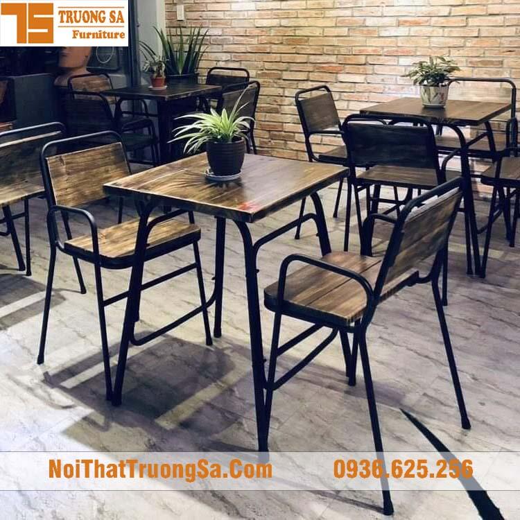 Bàn ghế cà phê sắt TS340