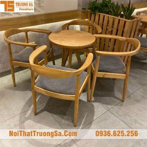 Bàn ghế cà phê gỗ TS333