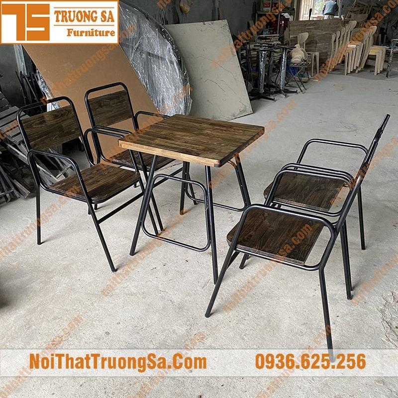 Bàn ghế cafe sắt ts340