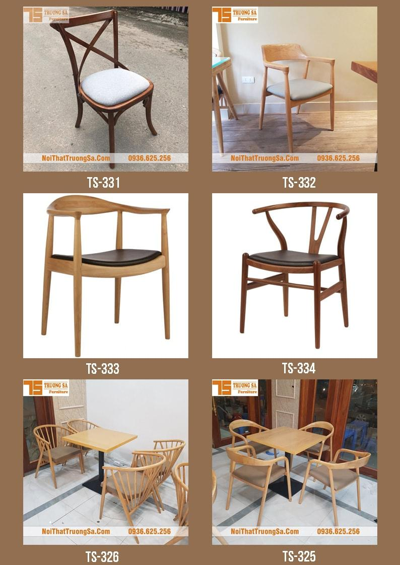 Ghế cafe đẹp bằng gỗ