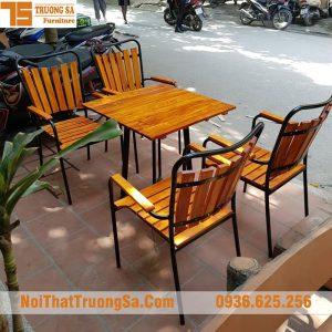 Bàn ghế cafe ngoài trời TS332