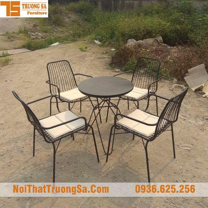 Bàn ghế cafe ngoài trời TS333