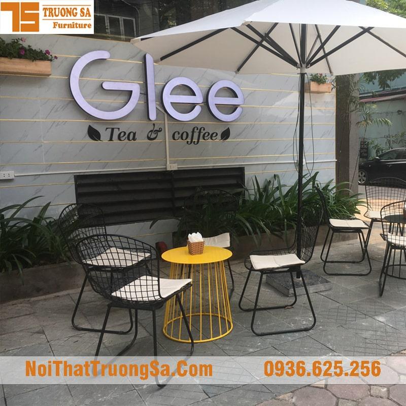Bàn ghế cafe ngoài trời TS335
