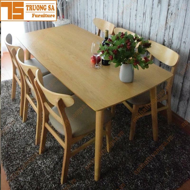 Bàn ghế phòng ăn gỗ đẹp giá rẻ
