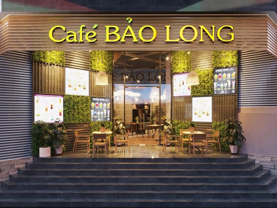 Thiết kế quán cà phê 200m2 sang trọng và ấn tượng