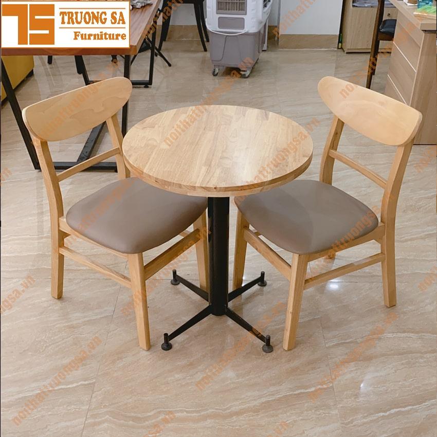 Bàn ghế cafe giá rẻ TS311 - Bàn chân X