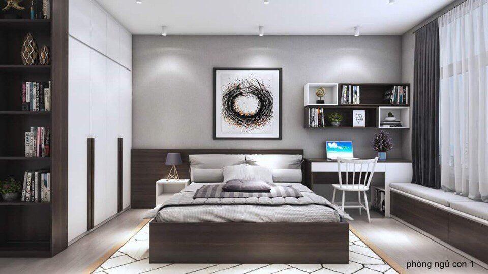 thiết kế nội thất chung cư 110m2 3 phòng ngủ