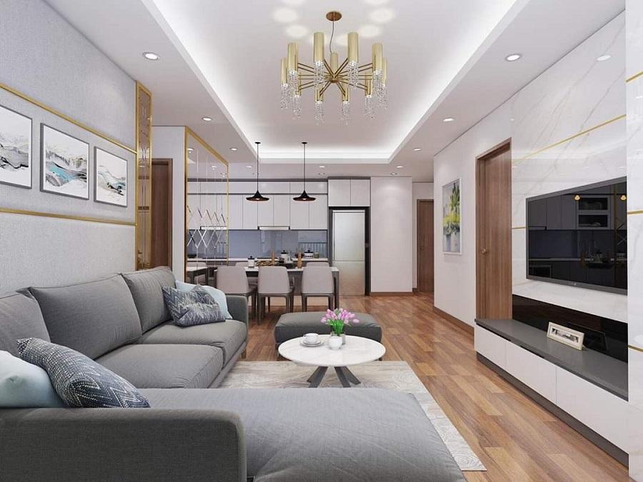 thiết kế nội thất chung cư 90m2 3 phòng ngủ