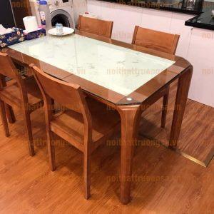 Bộ bàn ăn 4 ghế mặt đá TS389