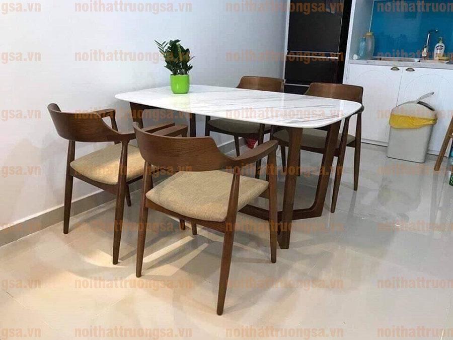 Bộ bàn ăn 4 ghế mặt đá TS399