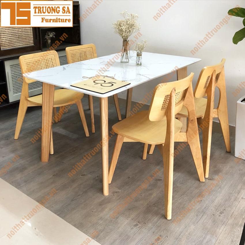 Bộ bàn ăn 4 ghế TS368