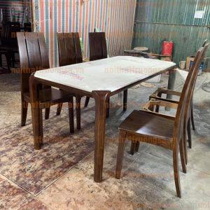 Bộ bàn ăn 6 ghế gỗ TS386