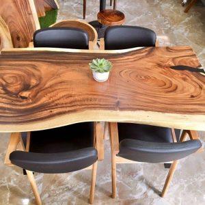 bàn ăn gỗ nguyên tấm TS113