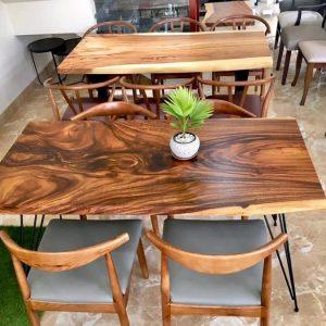 bàn ăn gỗ nguyên tấm TS114