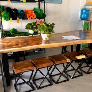 bàn ăn gỗ nguyên tấm TS118