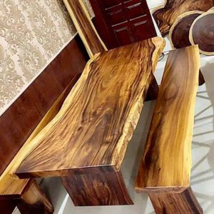 bàn ghế gỗ nguyên khối TS125