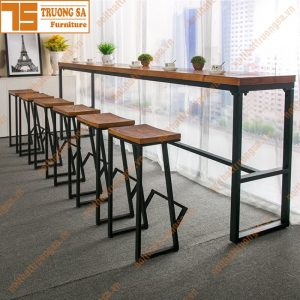 ghế quầy bar gỗ TS115
