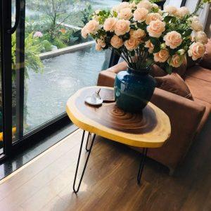 bàn gỗ nguyên khối TS129