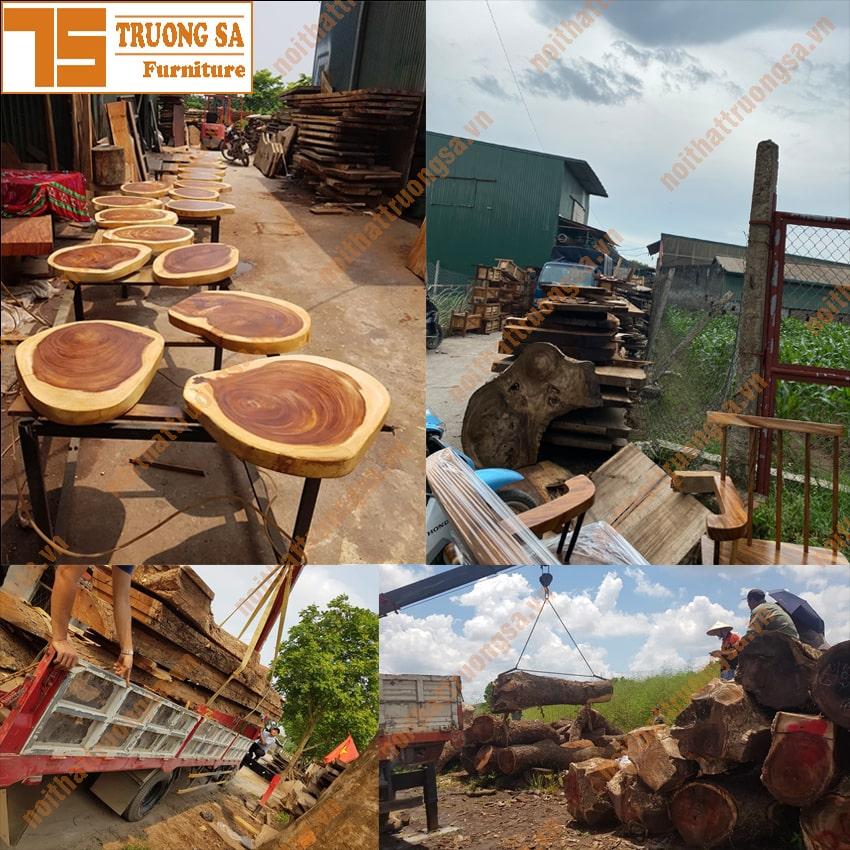 bán bàn ghế gỗ nguyên tấm Hà Nội