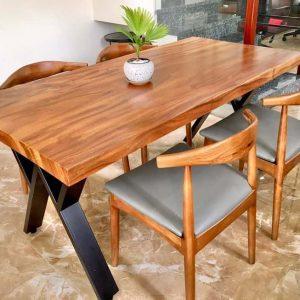 bàn nguyên khối gỗ xà cừ TS137
